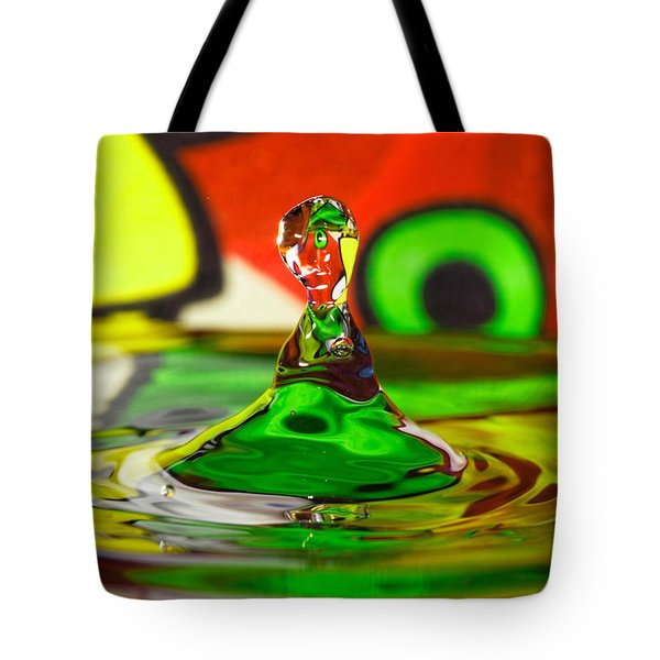 Tote Bag featuring the photograph Water Stick by Peter Lakomy