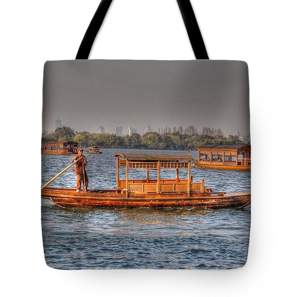 Water Taxi In China Tote Bag