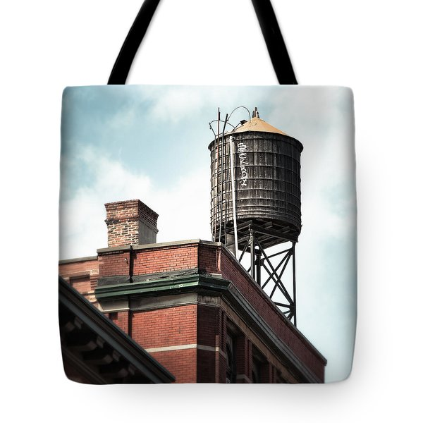Water Tower In New York City - New York Water Tower 13 Tote Bag by Gary Heller