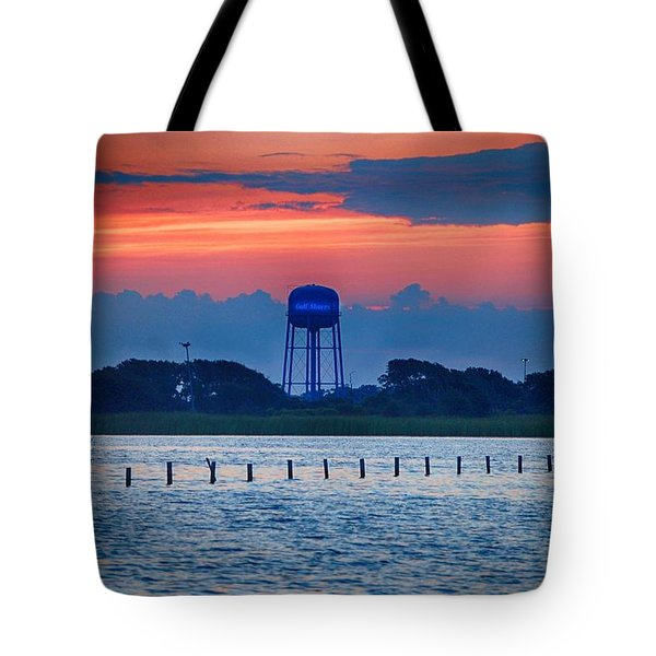 Tote Bag featuring the digital art Water Tower by Michael Thomas