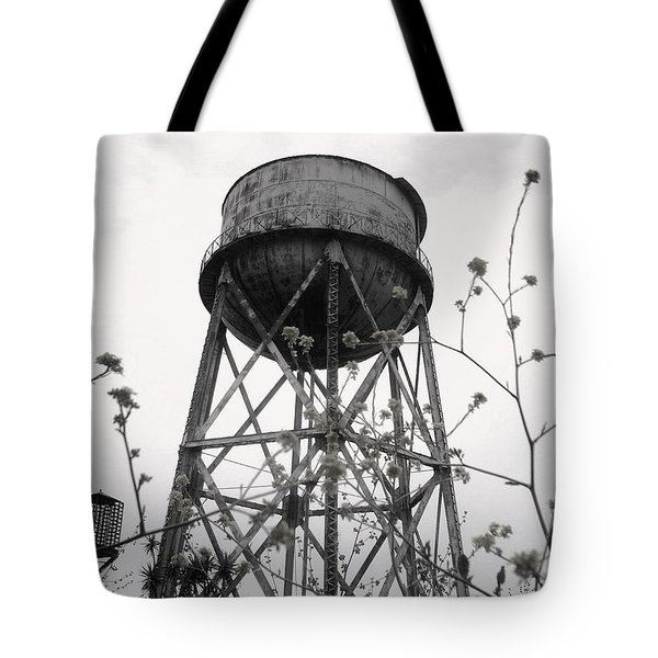 Water Tower Tote Bag by Michael Grubb