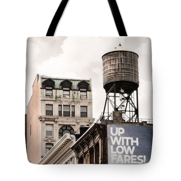 Tote Bag featuring the photograph Water Towers 14 - New York City by Gary Heller