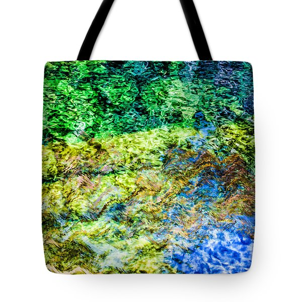 Water Tree Reflections Tote Bag