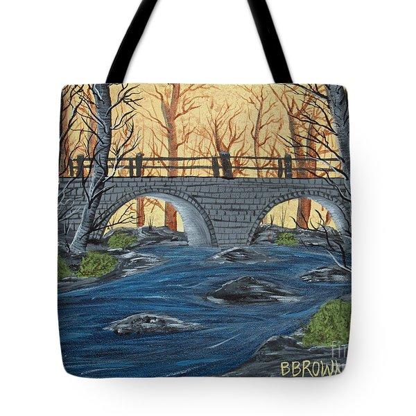 Water Under The Bridge Tote Bag by Brenda Brown