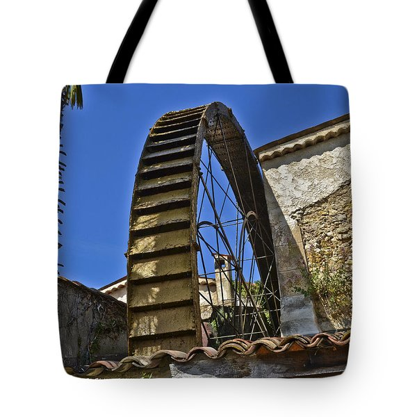 Water Wheel At Moulin A Huile Michel Tote Bag by Allen Sheffield