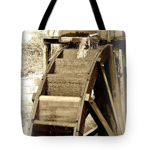 Water Wheel Tote Bag by Tara Potts