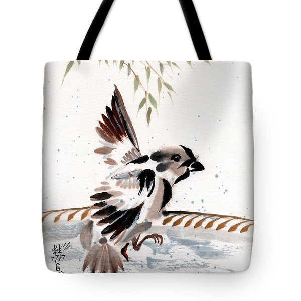 Tote Bag featuring the painting Water Wings by Bill Searle