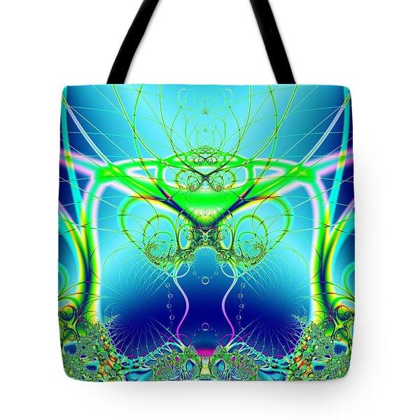 Water World Fractal Tote Bag
