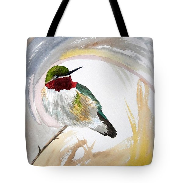 Watercolor - Broad-tailed Hummingbird Tote Bag