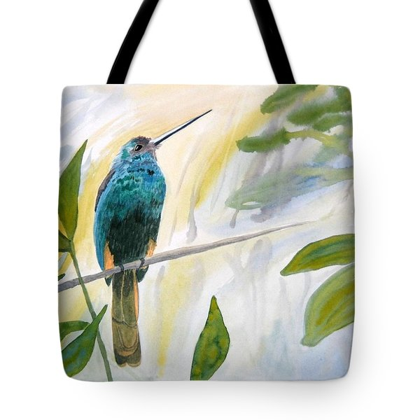 Watercolor - Jacamar In The Rainforest Tote Bag