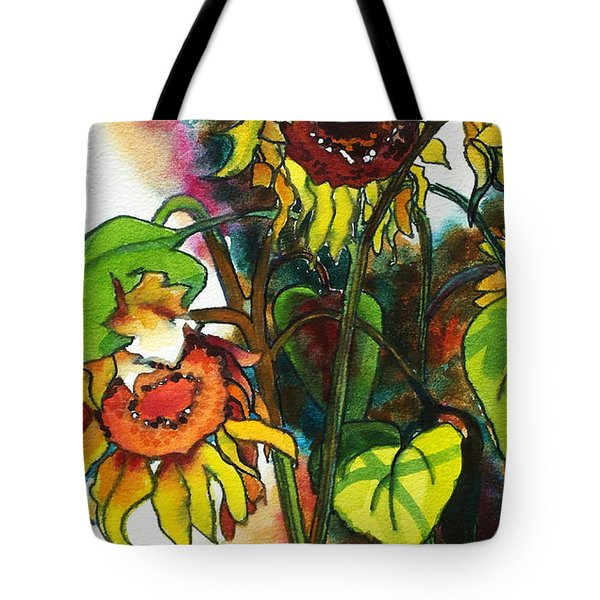 Sunflowers On The Rise Tote Bag