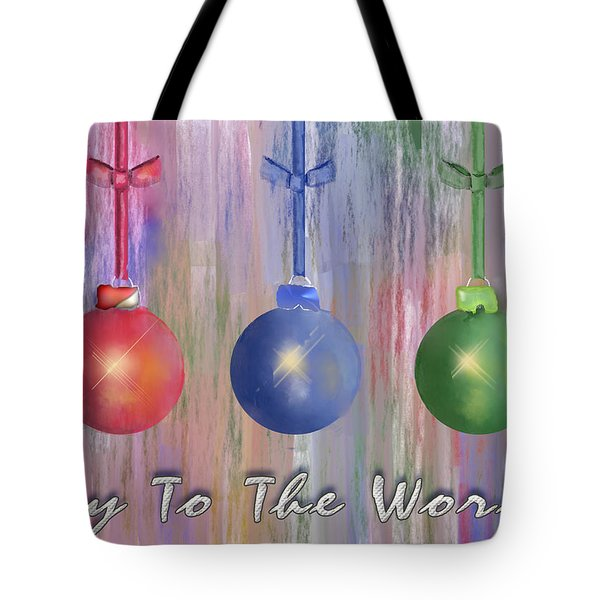 Tote Bag featuring the digital art Watercolor Christmas Bulbs by Arline Wagner