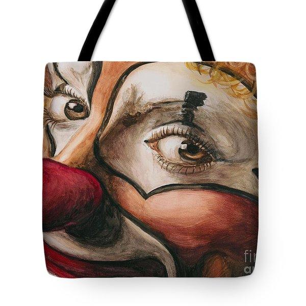Watercolor Clown #1 Tote Bag