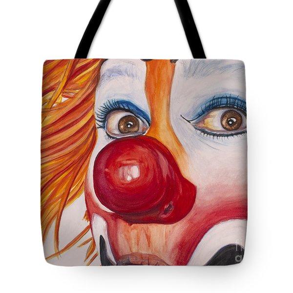 Watercolor Clown #10 Payaso Kiruz Bazo Tote Bag