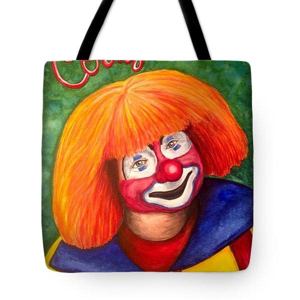 Watercolor Clown #18 Corky Dozier Tote Bag