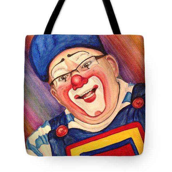 Watercolor Clown #20 Lee Andrews Tote Bag