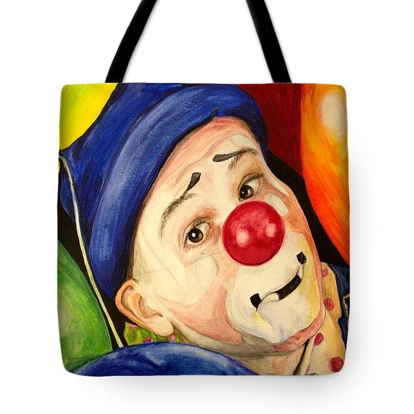 Watercolor Clown #5 Sean Carlock Tote Bag