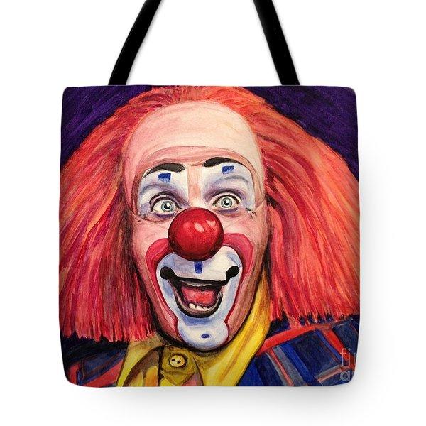 Watercolor Clown #6 Ron Toto Johnson Tote Bag