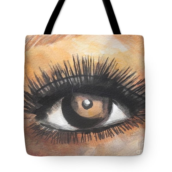Watercolor Eye Tote Bag by Chrisann Ellis