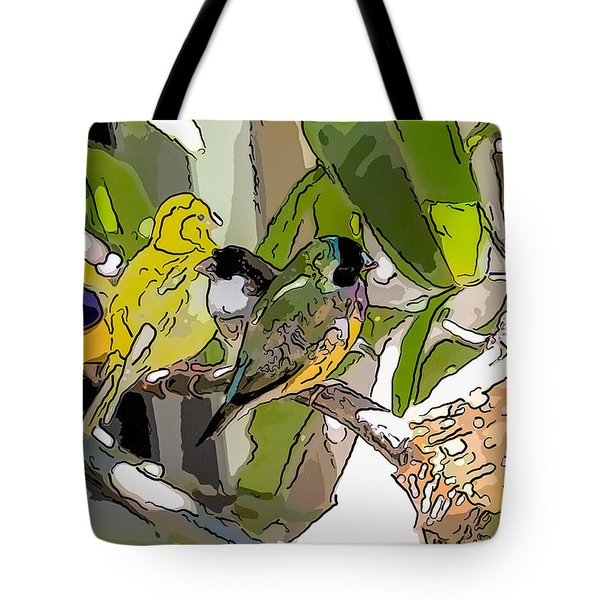 Watercolor Finches  Tote Bag
