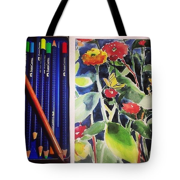 Watercolor Greetings Cards.... Pintando Tote Bag