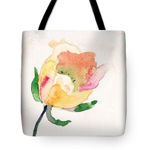Watercolor Illustration With Beautiful Flower  Tote Bag