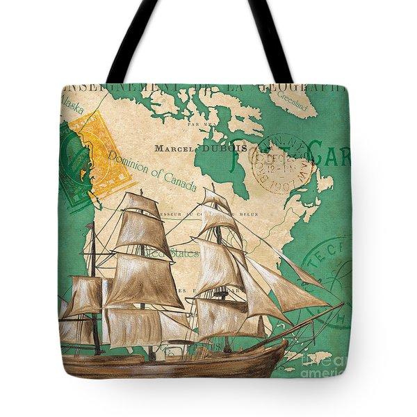 Watercolor Map 2 Tote Bag