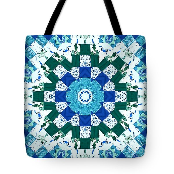 Watercolor Quilt Tote Bag by Barbara Griffin