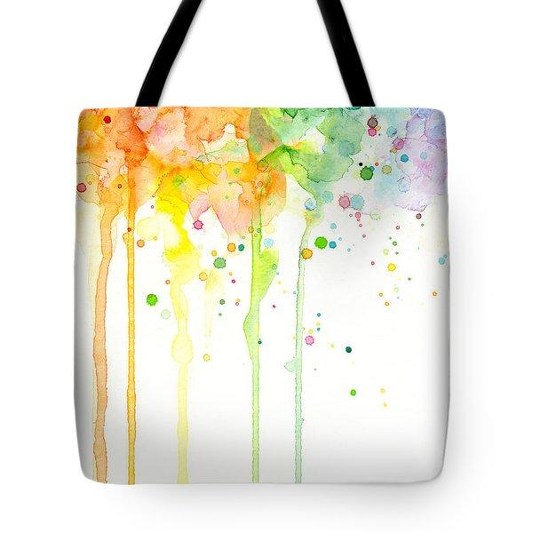 Watercolor Rainbow Tote Bag