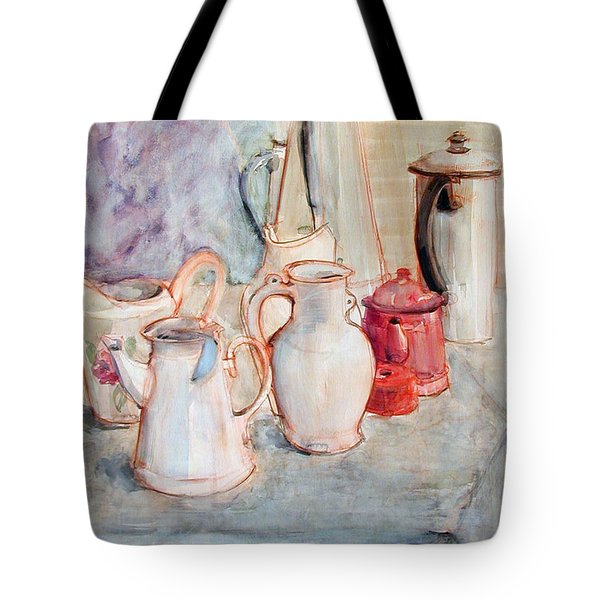 Watercolor Still Life With Red Can Tote Bag