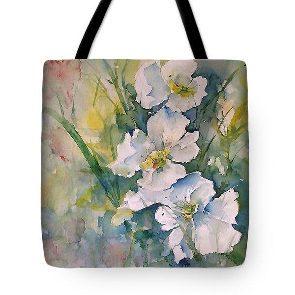 Watercolor Wild Flowers Tote Bag