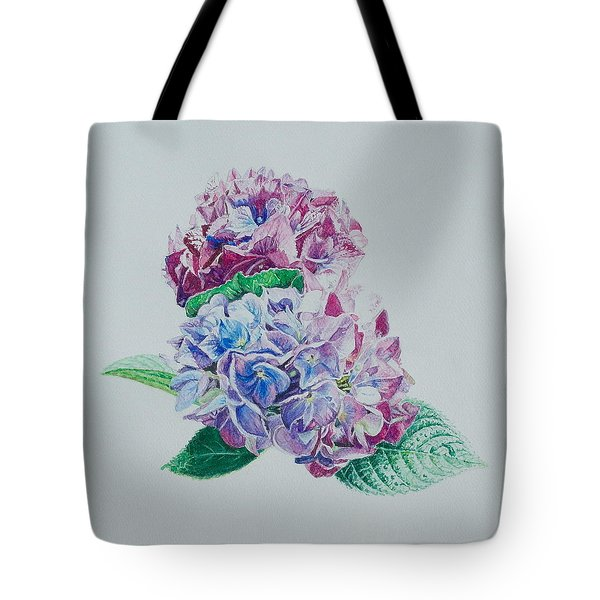 Watercolored Hydrangea Tote Bag