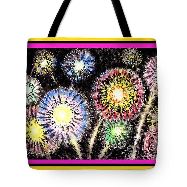 Watercolorful Fireworks Tote Bag
