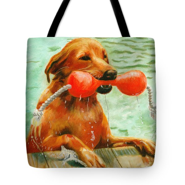 Waterdog Tote Bag