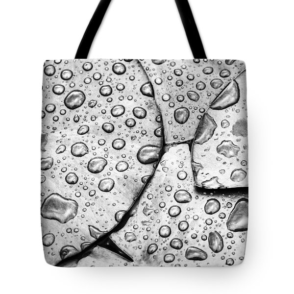 Waterdrops And Lilypads Tote Bag