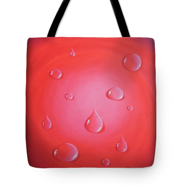 Waterdrops Tote Bag by Sven Fischer