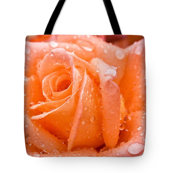 Watered Rose Tote Bag