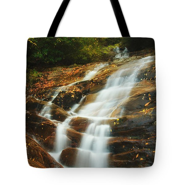 Waterfall @ Sams Branch Tote Bag by Photography  By Sai