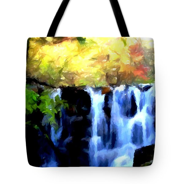 Waterfall 1 Tote Bag by Lanjee Chee