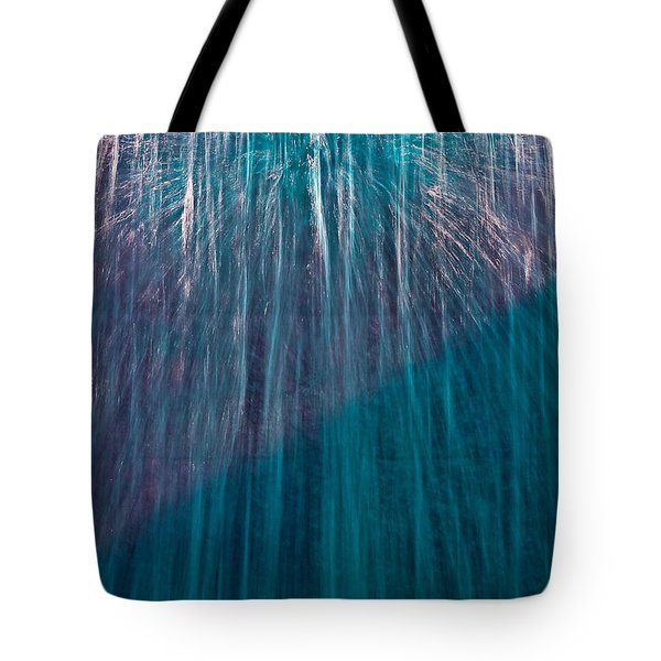 Waterfall Abstract Tote Bag