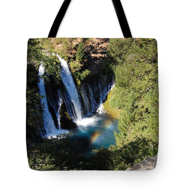 Tote Bag featuring the photograph Waterfall And Rainbow 2 by Debra Thompson