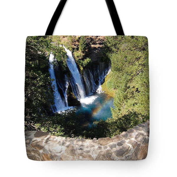 Tote Bag featuring the photograph Waterfall And Rainbow 3 by Debra Thompson