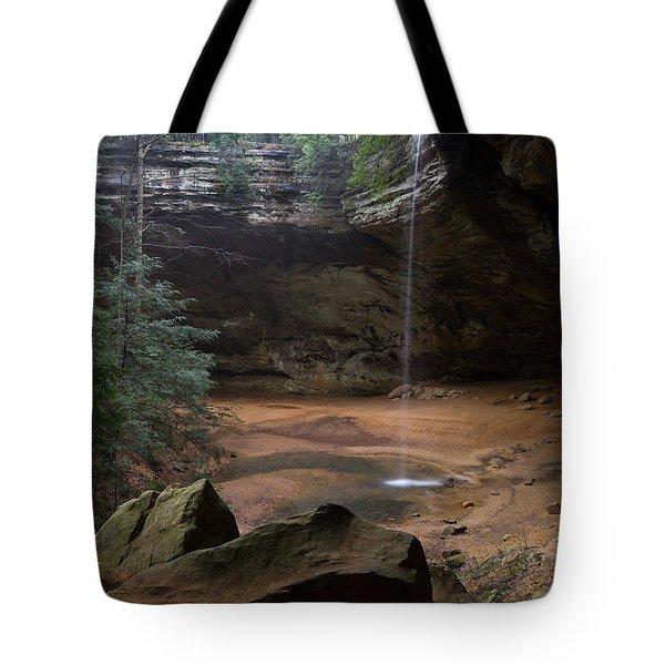 Waterfall At Ash Cave Tote Bag