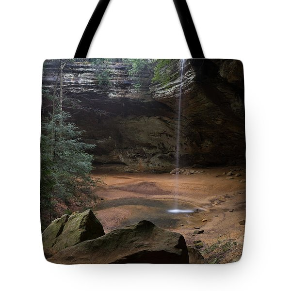 Waterfall At Ash Cave Tote Bag