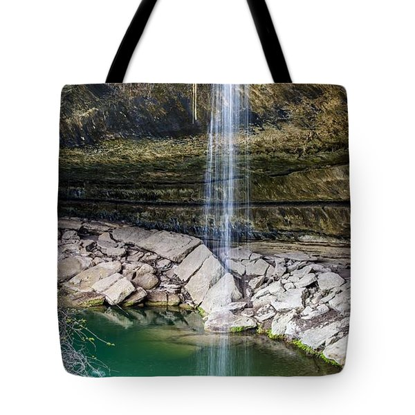 Waterfall At Hamilton Pool Tote Bag