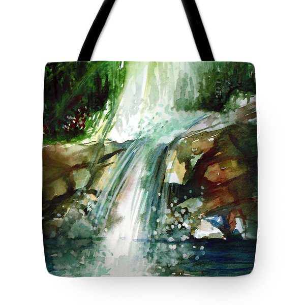 Waterfall Expression Tote Bag