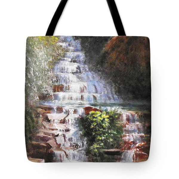 Waterfall Garden Tote Bag