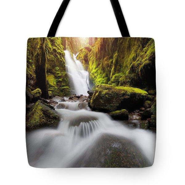 Waterfall Glow Tote Bag