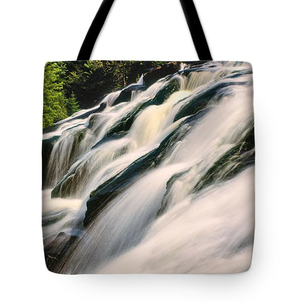 Waterfall In A Forest, Bond Falls Tote Bag
