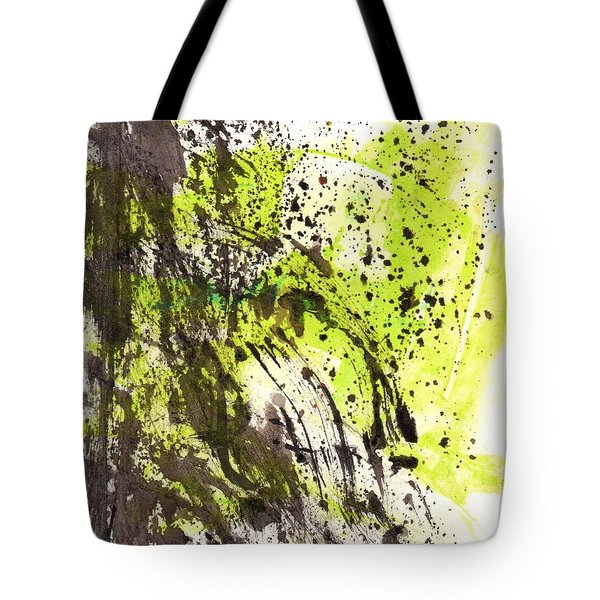 Tote Bag featuring the painting Waterfall In Abstract by Lesley Fletcher